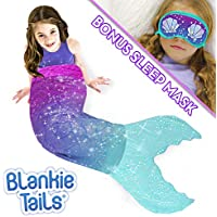 Blankie Tails Mermaid Tail Blanket with Bonus Sleep Mask...