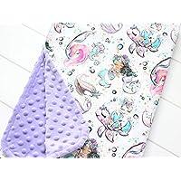 Mermaid Blanket, Personalized Baby Girl Blanket, Narwhal Minky Lovey, Turtle Crib Bedding, Nautical Nursery Decor, Sea Horse Stroller Blanket, Ocean Baby Shower Gift, Sea Creatures Minky Baby Blanket