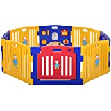 JAXPETY Baby Playpen Kids 8 Panel Safety Play Center...