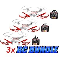 Striker 2.4GHz 4.5CH Camera RC Spy Drone 3-Pack Bundle