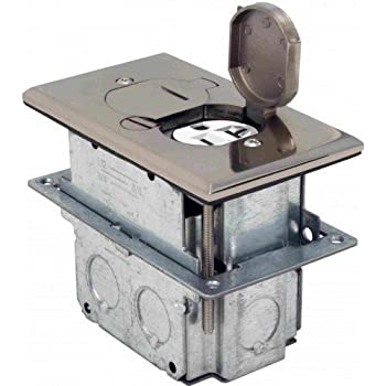 Hubbell Wiring Systems Sa2925 Aluminum Round Floor Box
