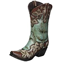Turquoise Cowgirl Boot Vase