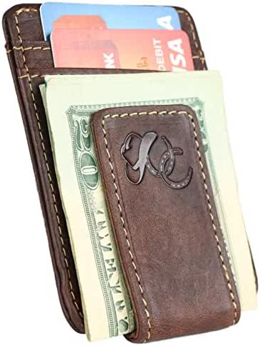 Mens Front Pocket Wallet with Money Clip by Urban Cowboy – Genuine Leather