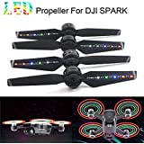 Rucan Spark LED Flash Propellers Blades Props Rechargeable for DJI Spark Drone (2Pairs)