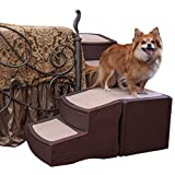 Pet Gear Easy Step Bed Stair for Pets, Wrap Around 4-Step for Pets upto 75 Pounds, Chocolate