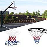 Aszune New Red White Blue Basketball Net Nylon Hoop Goal Rim Mesh Net Sports