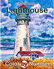 Creative Haven Lighthouse Color by Number: British Academy Film Awards Nominee Thriller Film Illustration Color Number Book for Fans Adults Creativity Gift Coloring Book
