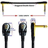 6 Units - 6 Inch -Pedal, Effects, Patch, instrument cable CUSTOM MADE By WORLDS BEST CABLES – made using Mogami 2319 wire and Eminence Gold Plated ¼ inch (6.35mm) R/A Pancake type Connectors