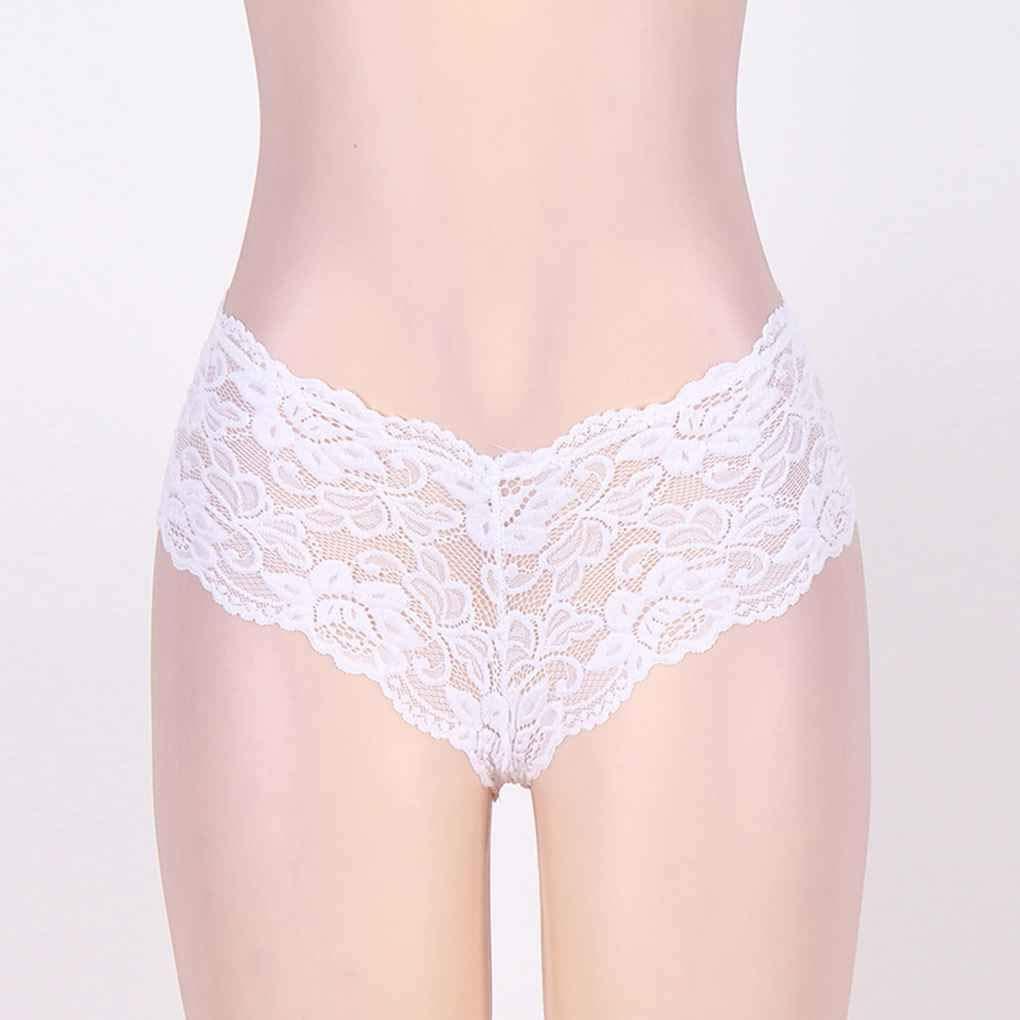 Vkospy Plus Size Culotte Sexy en Dentelle Dentelle Dentelle Femmes Lingerie Caleçons Stringa Thongs 021523