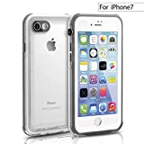 """iPhone 7 Clear Slim Rugged Waterproof Case , FITFORT Heavy Duty Full-Body with Built-in Screen Protector Shock Snow Dirt Proof Cover for iPhone 7 Plus-4.7""""(Crystal)"""