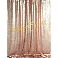 Sequin Backdrop- 3FTx5FT Shimmer Holiday Fabric Backdrops, Sequin Curtains, Drape, Sequin Panels, Gold Home Decor (Blush)