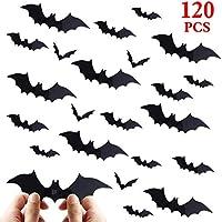 vanow DIY 120 Pieces Plastic 3D Bats Halloween...