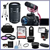 Canon EOS Rebel T6i DSLR Camera with 18-55mm Lens Video Creator Kit & Canon EF-S 55-250mm f/4-5.6 IS STM Lens + Telephoto & Wide Angle Lenses + more ...