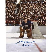Johnny Bower Toronto Maple Leafs Signed 8 x 10 Photo