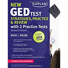 New GED® Test Strategies, Practice, and Review with 2 Practice Tests: Book + Online – Fully Updated for the...