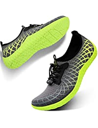 L-RUN Mens Womens Water Sport Shoes Outdoor Quick Dry Barefoot Aqua Athletic Shoe for Beach Swim Surf Diving Yoga