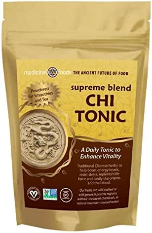 CHI TONIC for Energy and Vitality. Pure Chinese Herbs- No Fillers. Mix in Smoothies & Tea. Pre-workout Superfoods Powder - Vegan, All Natural, Non-GMO, Sugar Free & Gluten Free!