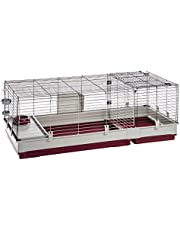 Ferplast Krolik Rabbit Cage | Extra-Large Rabbit Cage w/ Wood or Wire Hutch | Rabbit Cage Includes ALL Accessories