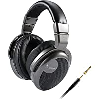 Spadger Over-Ear Headphones and Professional Studio DJ Headphones with Plug Adapter