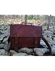 Handmadecraft Genuine Mens Leather Messenger Laptop Briefcase Satchel Mens Bag