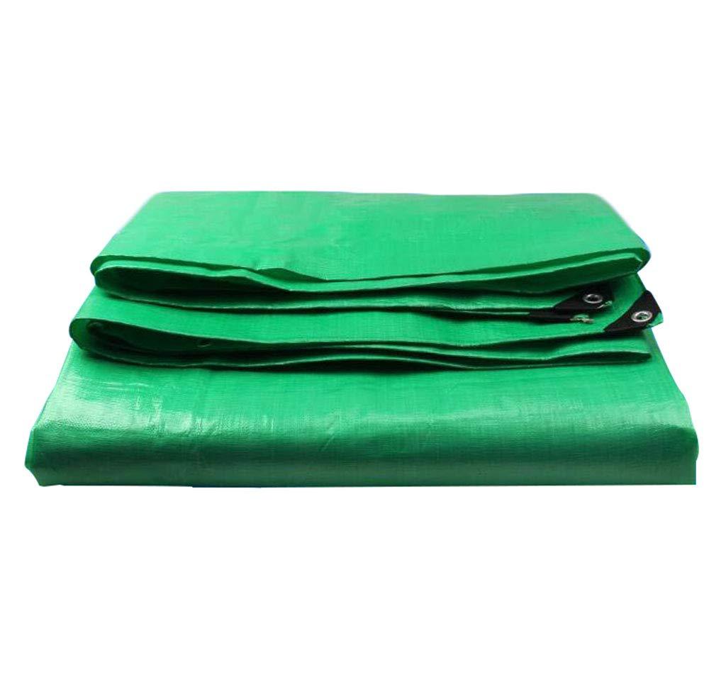 Yuke Wetterfeste Außenplanenstaub-Staub-UV-Regenschutzplane für Garten-Camping-Grün (größe   8x12m)