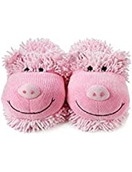 Fuzzy Friends Slippers Pig 10 by Aroma Home
