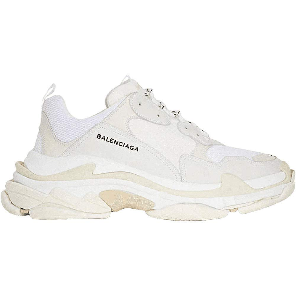 White LV-GU-belt Balenciaga Men's & Women's (Size 35-45) Triple S grey Clair Mesh Nubuck Leather shoes Black