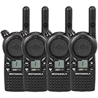 4 Pack of Motorola CLS1110 Two-way Radios with Programming Video