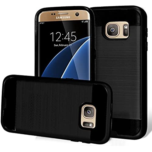 S7 EDGE Case, Phonelicious Chrome[Slim Fit] [Brushed Metal Texture] [Heavy Duty] Ultimate Drop Protection Rugged Sales