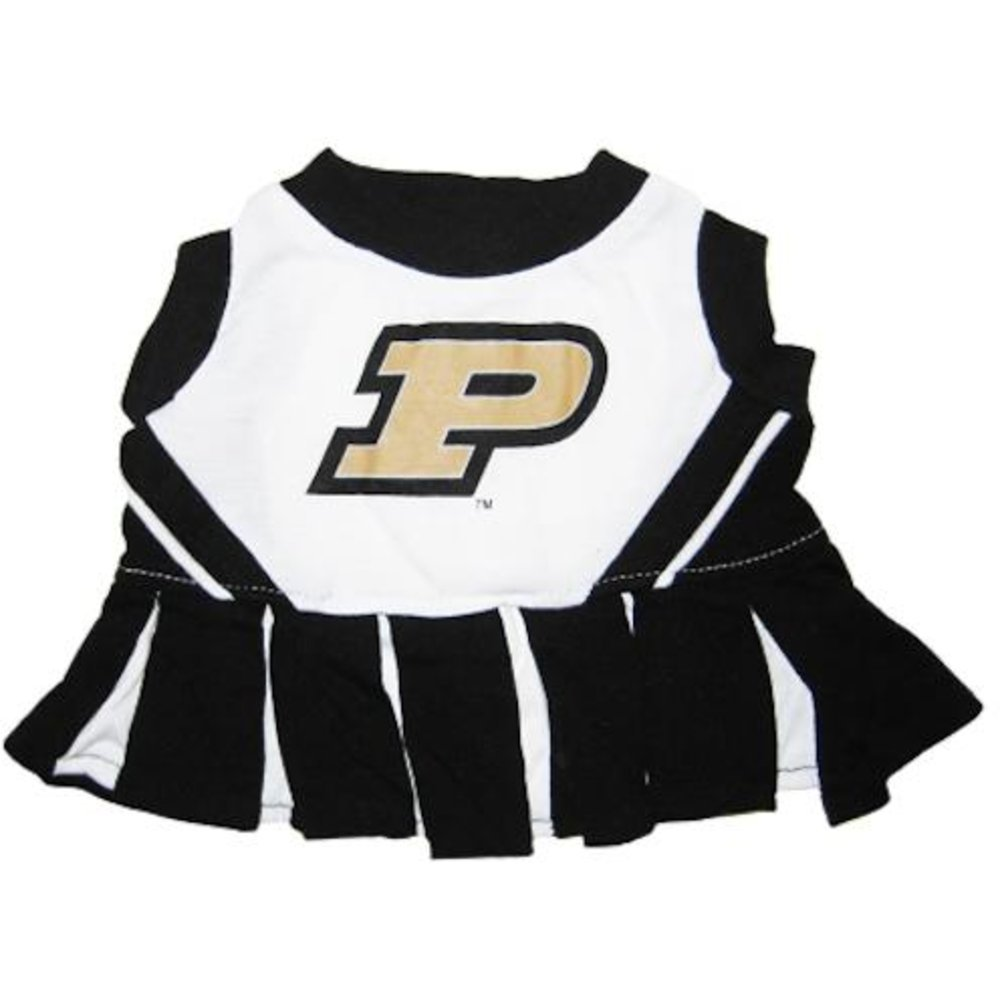 Pets First Collegiate Purdue University Dog Cheerleader Outfit, Small