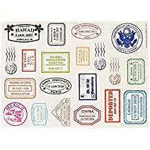 Passport Stamp Sticker Sheets (480 Stickers)