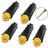 VACFIT 5 x Flexible Beater Brush for iRobot Roomba 600 700 Series Vacuum Cleaning Robots Roomba 620 630 650 660 680 760 770 780 790