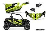 AMR Racing UTV Graphics kit Sticker Decal Compatible with Can-Am Maverick Sport DPS 2-Door 2019 - Geometrik Black Manta Green