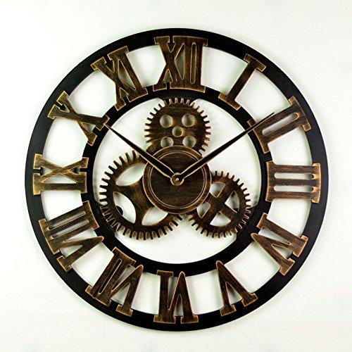 grandes ahorros Relojes Relojes Relojes de parojo de estilo europeo antiguo engranaje hueco relojes Relojes Retro Bares Cafe Relojes de parojo relojes creativos , oroen roma 58cm  entrega gratis