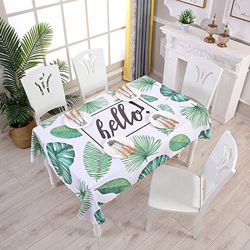 N/A Jinyuan Impermeable Y A Prueba De Aceite Mantel para Cocina Decorativo Mesa De Comedor Mantel para Mesa Textil para El Hogar 55x87 Pulgadas 140x220cm