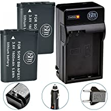 BM Premium 2-Pack of NP-BX1 NP-BX1/M8 Batteries & Charger for Sony CyberShot HDR-AS50, DSC-RX1, DSC-RX1R, DSC-RX1R II, DSC-RX100, DSC-RX100M II, DSC-RX100 III, DSC-RX100 IV, DSC-H300, DSC-H400, DSC-HX300, DSC-HX50V, DSC-HX60V, DSC-HX80V, DSC-HX90V, DSC-WX300, DSC-WX350, HDR-AS10, HDR-AS15, HDR-AS30V, HDR-AS100V, HDR-AS100VR, HDR-AS200V, HDR-AS200VR, HDR-CX240, HDR-CX405, HDR-CX440, HDR-PJ275, HDR-PJ440, HDR-MV1, FDR-X1000V, FDR-X1000VR Digital Camera
