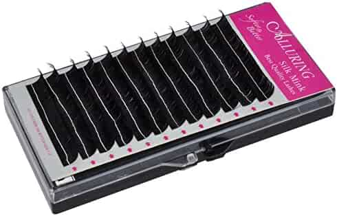 d08aa76f7fc Alluring Silk Mink Lashes for Eyelash Extensions D curl .20mm thickness