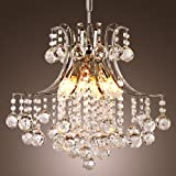 LightInTheBox Pendant Light Luxury Modern Crystal Living 6 Lights, Modern Home Ceiling Light Fixture Flush Mount, Pendant Light Chandeliers Lighting