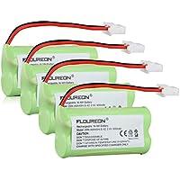 Floureon 4 Packs 2.4V 400mAh Rechargeable Cordless Phone Telephone Batteries for BT-183342, BT262342 BT266342 BT283342 BT162342 TL86009 TL86109 EL52251