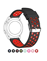 20mm Universal Smart Watch Bands, FanTEK Soft Silicone Sport Quick Release Watch Strap Wristband for Samsung Gear 2 Classic/Ticwatch 2 /Moto 360 For Men 2nd Gen 42mm--L (Extra Large) Size