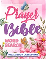 Bible Word Search Puzzle Book Large Print: Prayer