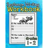 Sentence Writing Workbook: Sentence writing practice for kids 5-7, grades 1-2 writing workbook, word tracing, writing skills