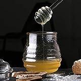 EvaGO 6 Inch Honey Dipper Stick Glass Honey Spoon