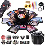 RECUTMS Explosion Box DIY Scrapbooking Set Handmade Photo Album,Gift Box with 6 Faces for Christmas Gift Wedding Memory Book (6 Sides) (Color: 6 Sides)
