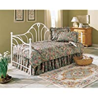 Fashion Bed Emma Daybed with Euro Top Spring and Pop-Up Trundle in White
