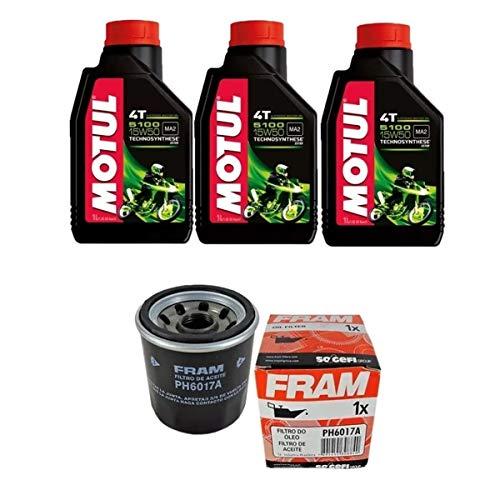 Kit Troca Oleo Motul 5100 15w50 4t 3l + Filtro Ph6017 Moto