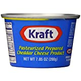Kraft Prepared Pasturized Cheddar Cheese, 7.05 Ounce by Kraft [Foods]
