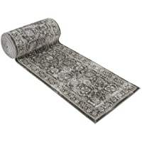 25 Stair Runner Rugs - Luxury Kashan Collection Stair Carpet Runners (Grey)