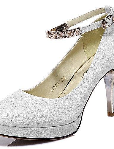 GGX Damen Schuhe synthetischer Frühling Sommer Herbst Winter Heels Heels Heels Heels Hochzeit Casual Stiletto Heel Glitzer Schwarz Weiß ba6b62