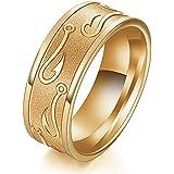 Tungsten Stainless Steel Man Women Wedding Band Ring Black Gold Silver Size 7-13#by pimchanok shop (12, Gold)